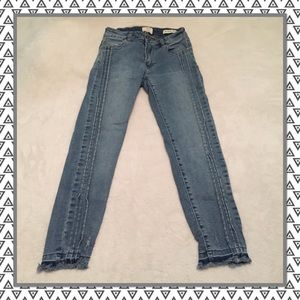 Cotton On Jeans 91 Mid Grazer Skinny Frayed Ankles